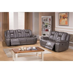 Fae Reclining 2 Piece Leather Living Room Set