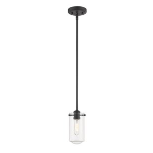 Lange Mini 1-Light Lantern Pendant by Breakwater Bay