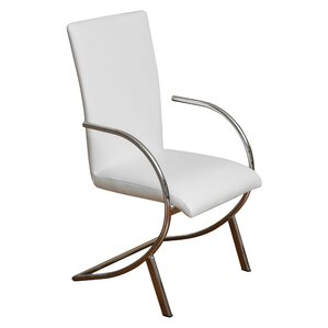 Barrera Leather Upholstered Dining Chair (Set of 2) by Wade Logan