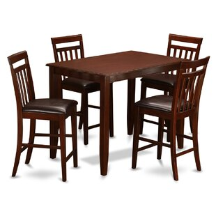 Buckland 5 Piece Counter Height Dining Set East West Furniture