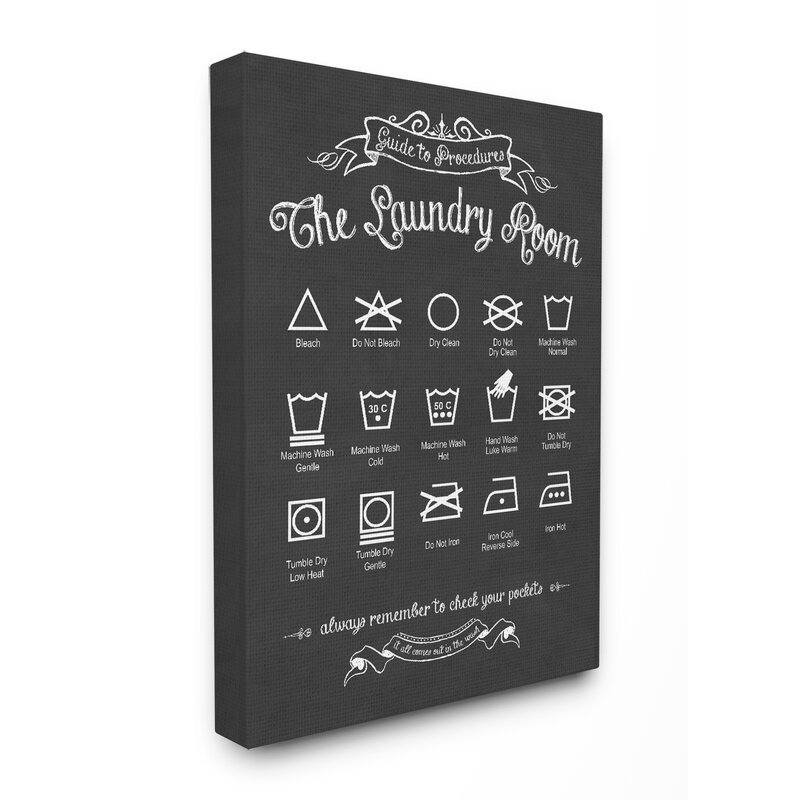 East Urban Home The Laundry Room Guide Graphic Wall Plaque Reviews