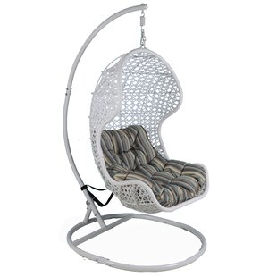Watkin Rattan Swing Chair With Stand by Bungalow Rose Spacial Price