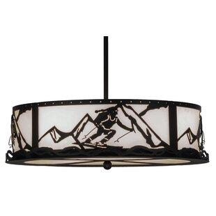 Meyda Tiffany Greenbriar 4-Light Inverted Pendant