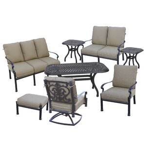 Palazzo Sasso 8 Piece Sofa Set with Cushions by Astoria Grand