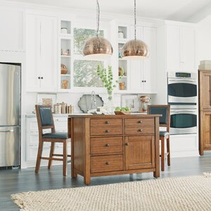 Hurst Kitchen Island Set by Loon Peak Top Reviews