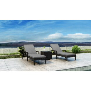 Glendale Sun Lounger Set with Cushions and Table