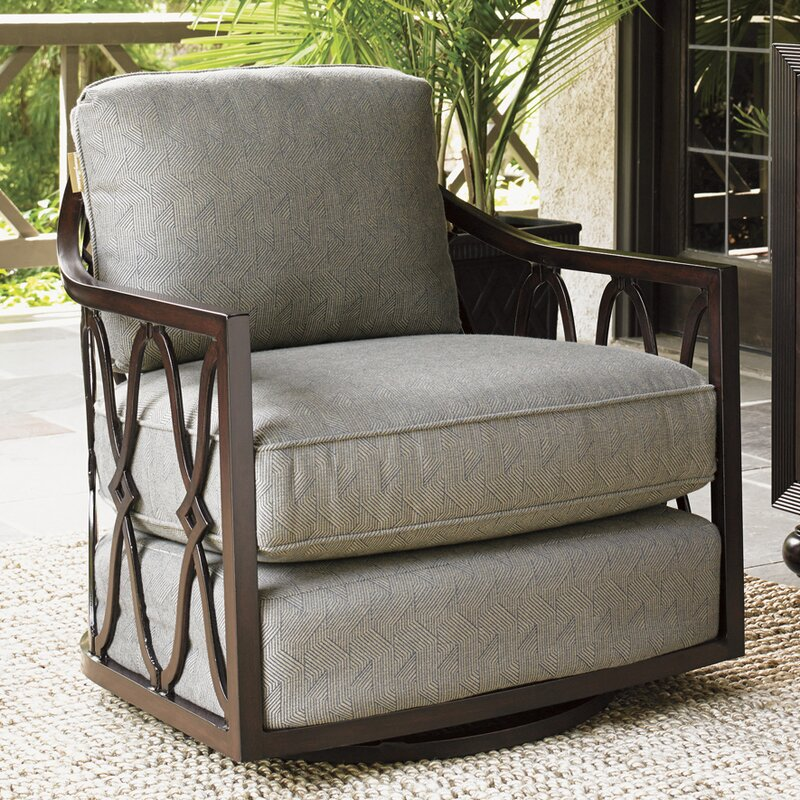 Royal Kahala Swivel Patio Chair With Cushions
