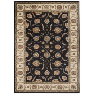 Great Price Lukeson Black Ikat Area Rug By Astoria Grand