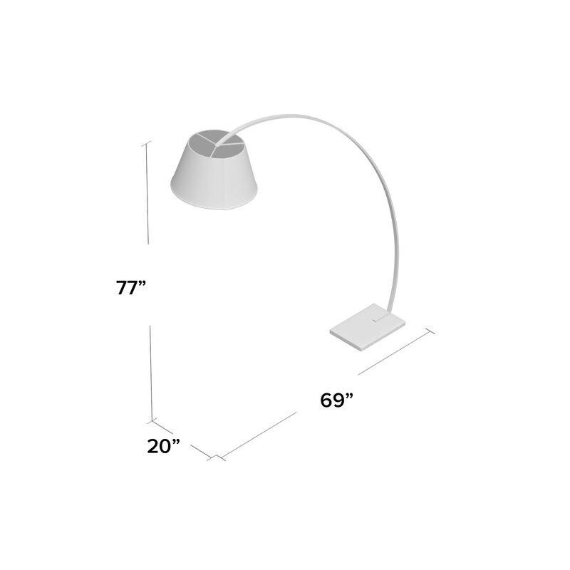 Rachel 77 Swing Arm Floor Lamp