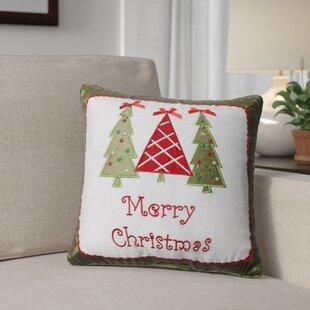 Merry Christmas Trees Throw Pillow