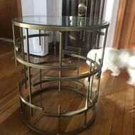 Mercer41 Stansberry Glass Top Pedestal End Table Wayfair