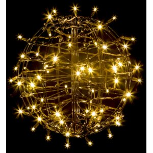 Grapevine Fold Flat Sphere Light with 75 LED Lights
