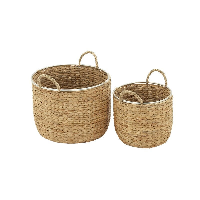 2 Piece Wicker Basket Set
