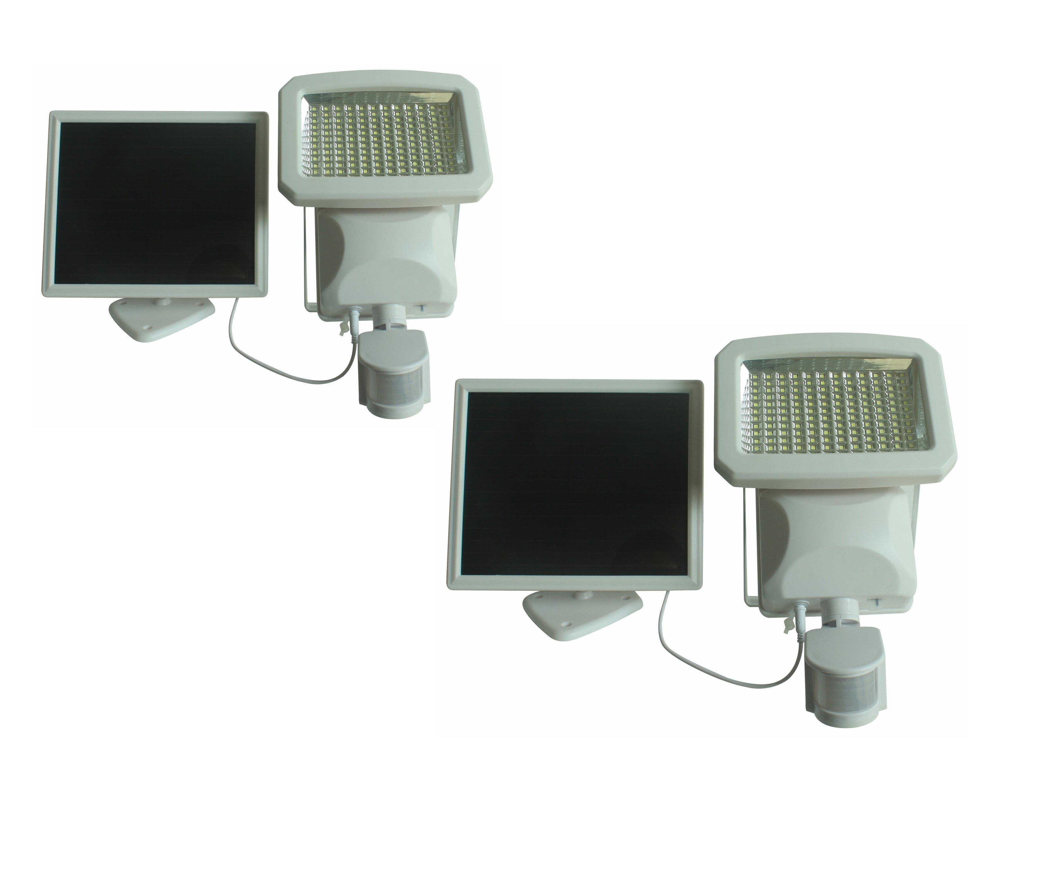 Nature Power 1 5 Watt Led Solar Power Dusk To Dawn Outdoor Security Flood Light With Motion Sensor Pack Of 2 Wayfair