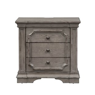 Canora Grey Sunnydale 3 Drawer Nightstand