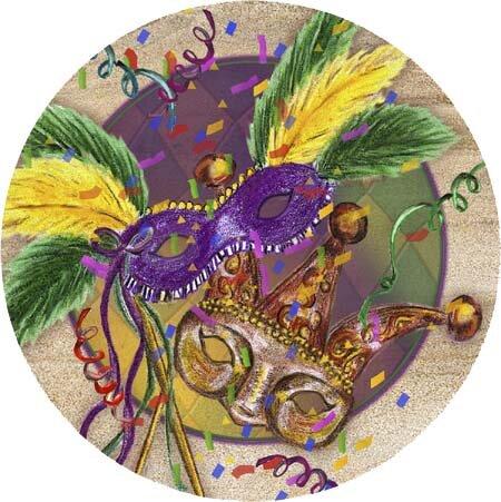 Mardi Gras Masks Coaster (Set of 4)