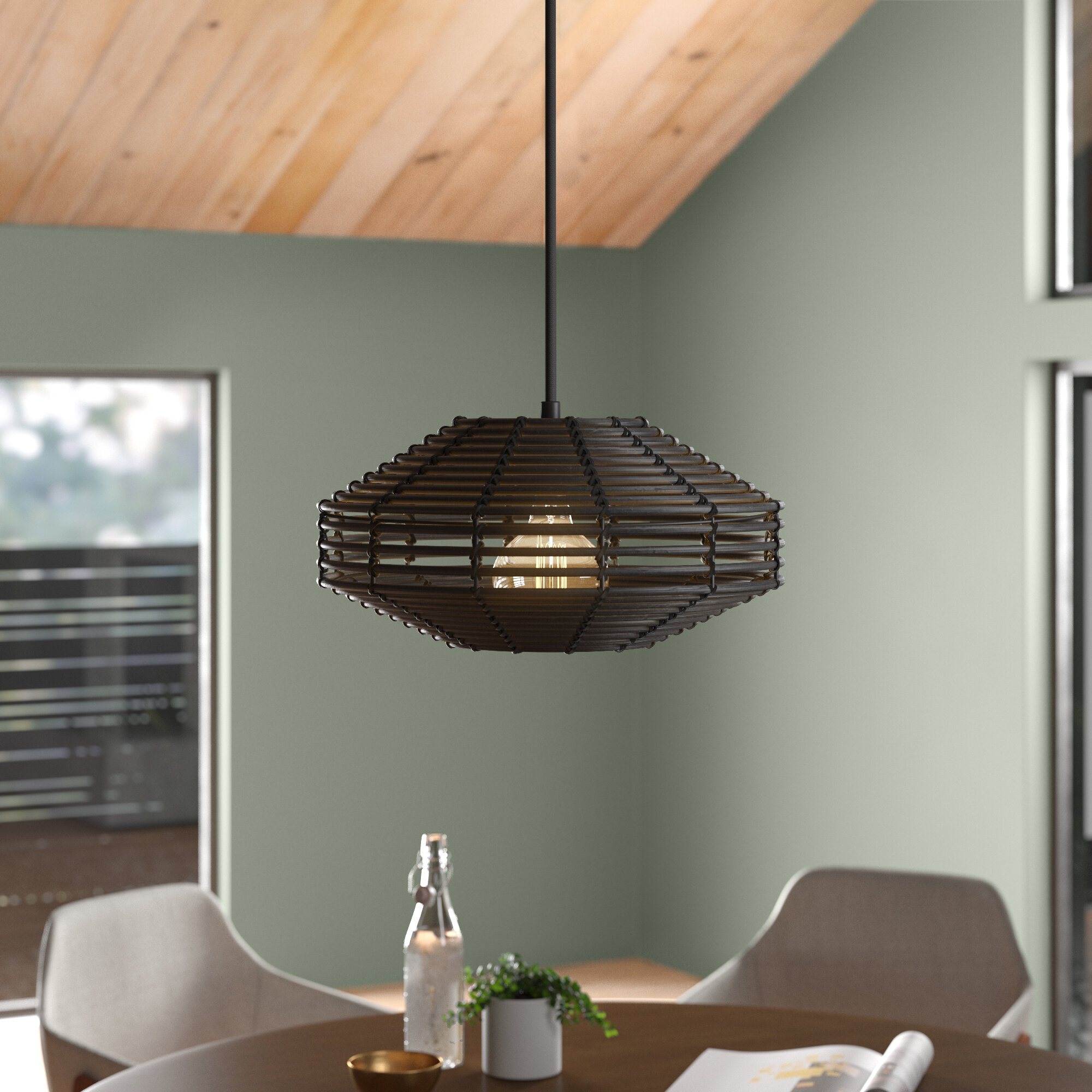 Lostwithiel 1 Light Single Geometric Pendant Allmodern