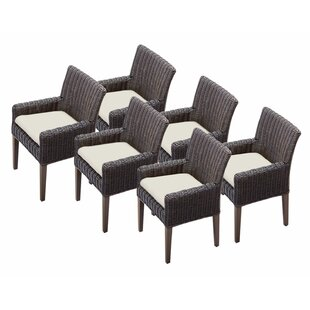 Mejia Patio Dining Chair with Cushion (Set of 6)