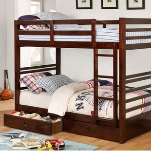 Harriet Bee Post Twin Over Twin Bunk Bed with Drawers