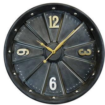 Ebern Designs Unaffected Discrete Abstract Metal Wall Clock Wayfair