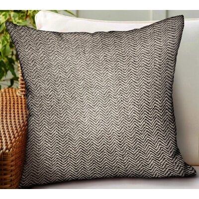 Carnahan Chevron Luxury Indoor/Outdoor Throw Pillow by George Oliver Best #1