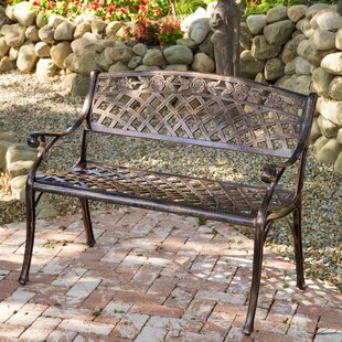 Caffey Cast Aluminum Garden Bench by Alcott Hill Read Reviews
