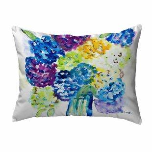 Sinquefield Hydrangea Indoor/Outdoor Lumbar Pillow