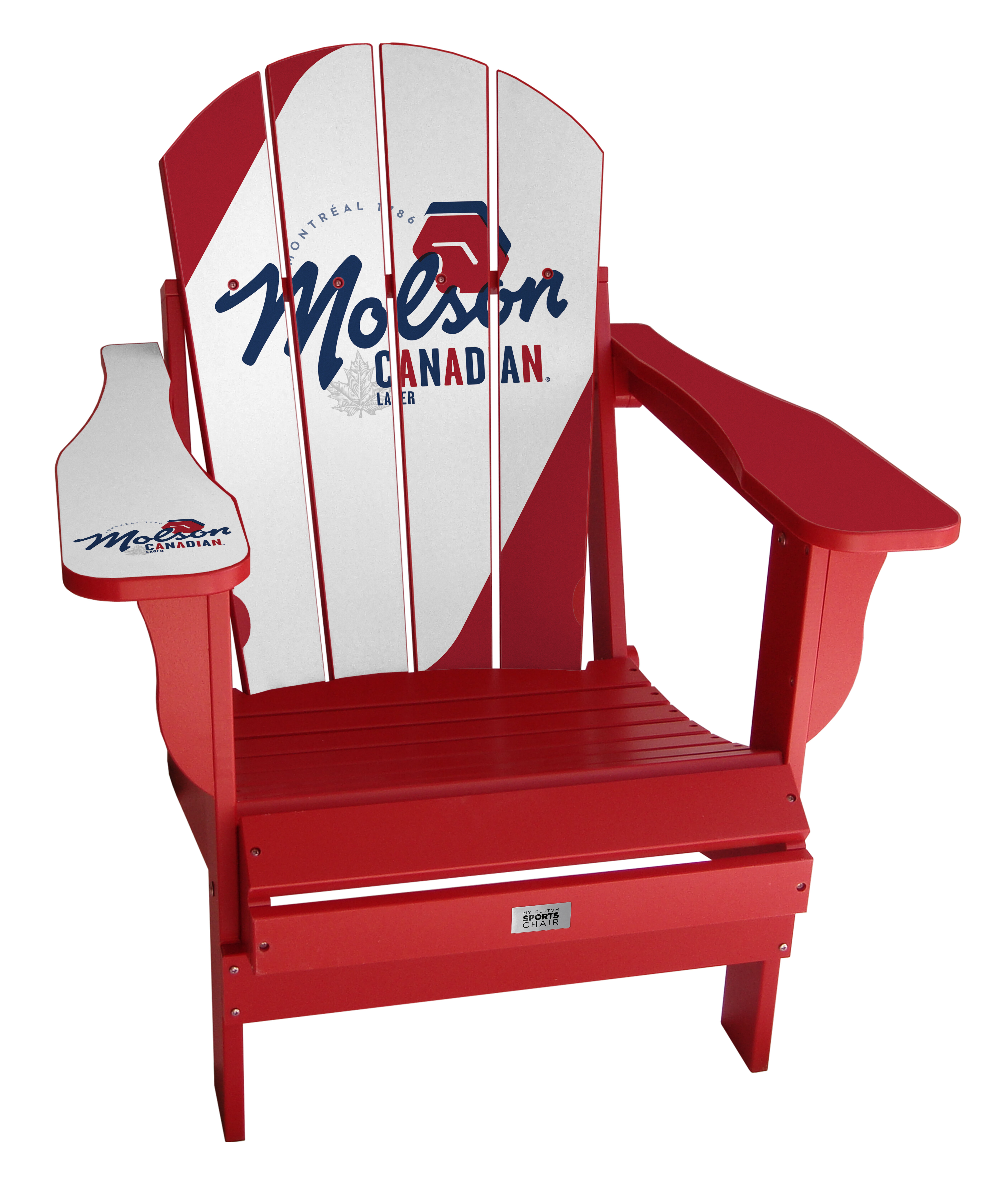 Super Molson Canadian Jersey Resin Folding Adirondack Chair Squirreltailoven Fun Painted Chair Ideas Images Squirreltailovenorg