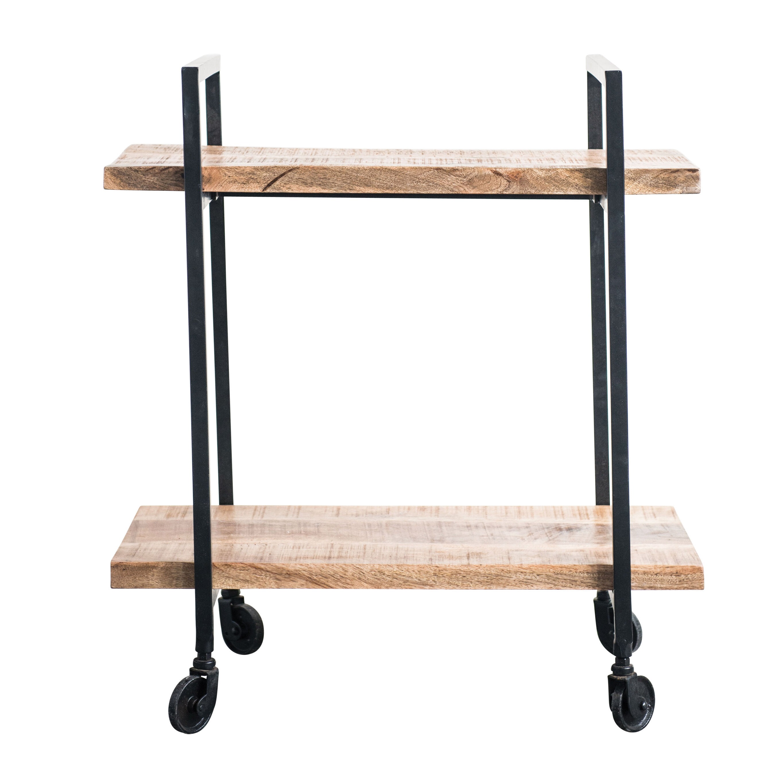 Ana Wood Metal 2 Tier Bar Cart Allmodern