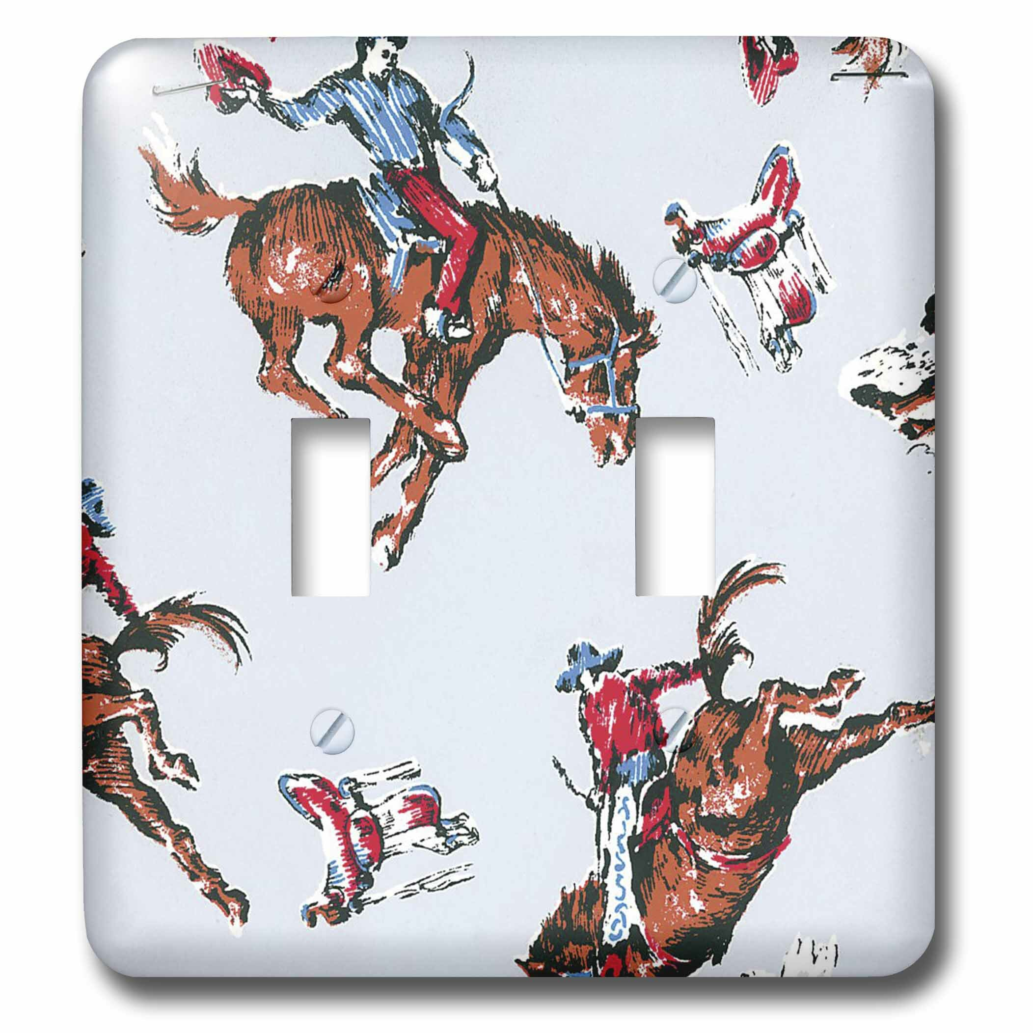 3drose Rodeo Cowboys 2 Gang Toggle Light Switch Wall Plate Wayfair