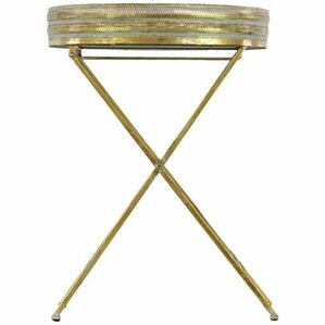 Rivet Metal Table with Mirror Surface Pierce by Mercer41