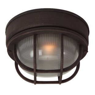 Charlton Home Dwight 1-Light Metal Flush Mount