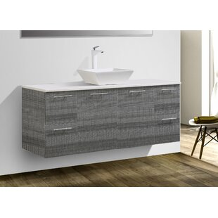 Stingley 60 Wall Mounted Single Bathroom Vanity Set by Wrought Studio