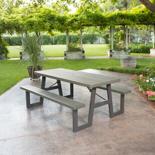 W-Frame Folding Plastic Picnic Table