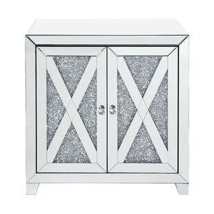 Daveney 2 Door Mirrored Accent Cabinet By Rosdorf Park