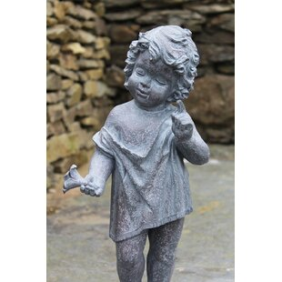 Gentile Cherub Little Boy Statue By Astoria Grand