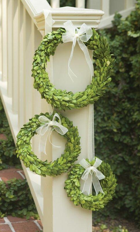 Preserved Greens 3 Piece Wreath Set