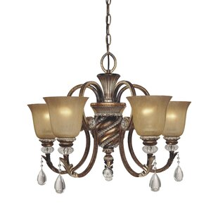 Astoria Grand Mcmillian 5-Light Shaded Chandelier