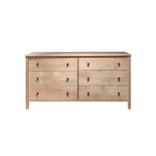 Loon Peak Wingert 6 Drawer Double Dresser