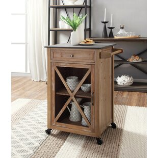 Gemma Kitchen Cart with Granite Top Gracie Oaks