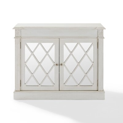 Darby Home Co Cheetham Mirrored 2 Door Accent Cabinet Reviews