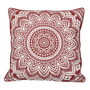 Toph Starburst Medallion Throw Pillow by Bungalow Rose Fresh