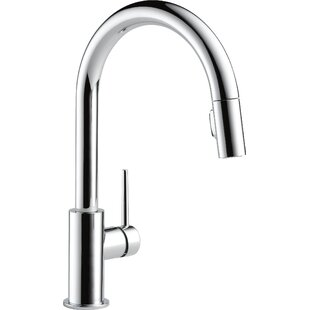 save delta trinsic pull down single handle kitchen faucet - Delta Faucets Kitchen