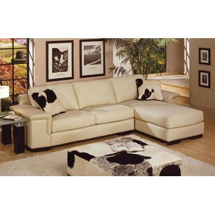 Mercedes Leather Sectional by Omnia Leather