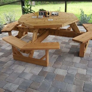 Wooden Picnic Table by Cedar Creek Woodshop No Copoun