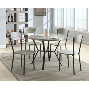 Felicia 5 Piece Dining Set Millwood Pines