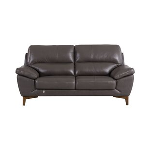 Brayden Studio Stengel Leather Loveseat