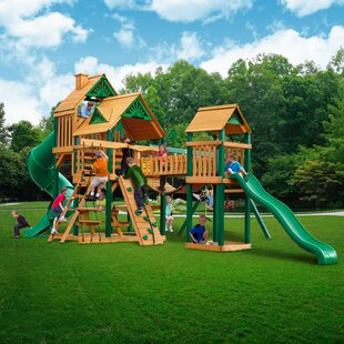 Bon Treasure Trove I Timber Shield™ Posts Swing Set