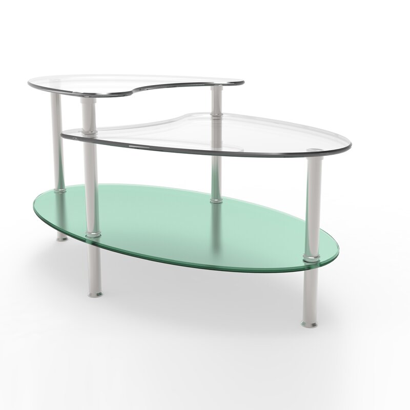 Wrought Studio Hegarty Two Tier Coffee Table Reviews Wayfair - Two level coffee table