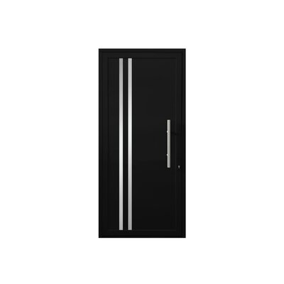 Leo Standard Jamb Finished Prehung Front Entry Door Cbwwindowsanddoors Door Size 84 H X 36 W X 263 D Door Handing Left Hand Inswing Finish Bl